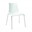SCAB - židle Zebra lesklá bílá
