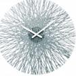SILK nástěnné hodiny - transparentní antracitová