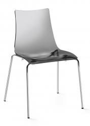 SCAB - židle Zebra průhledná kouřová