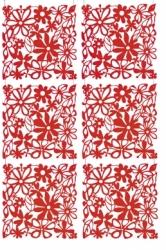 ALICE dekorace - červená
